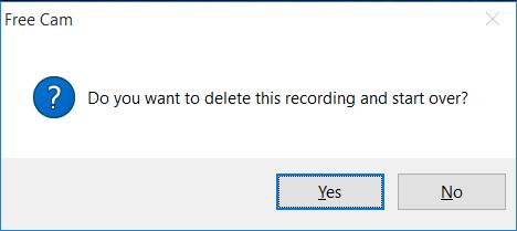 هل تريد حذف هذا التسجيل والبدء من جديد؟