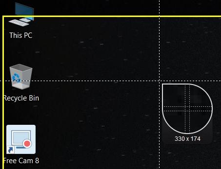 مؤشر الفأرة للخيار Select area